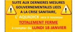 Aquadick : fermeture totale