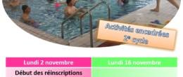 Aquadick : inscription aux activités encadrées