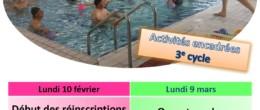 Aquadick : inscription aux activités encadrées du 3ème cycle