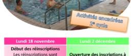 Aquadick – Réinscription et inscription aux activités encadrées