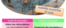Aquadick : activités encadrées – inscriptions