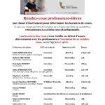 Du 03 Au 08 septembre RDV prof-élèves 2018 complété