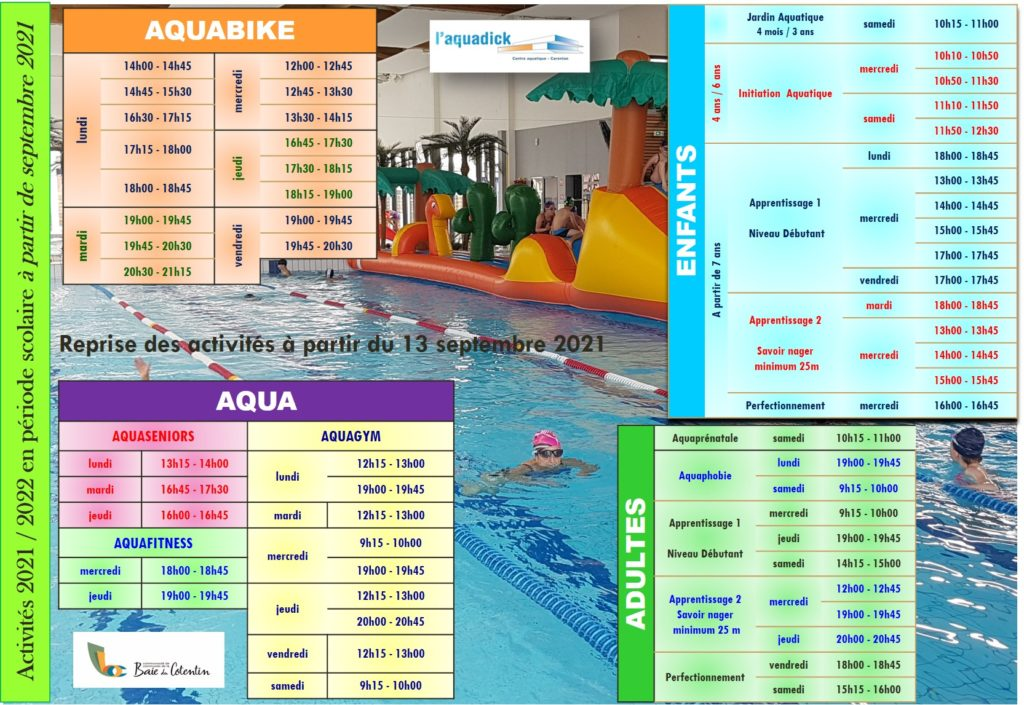 Page horaires