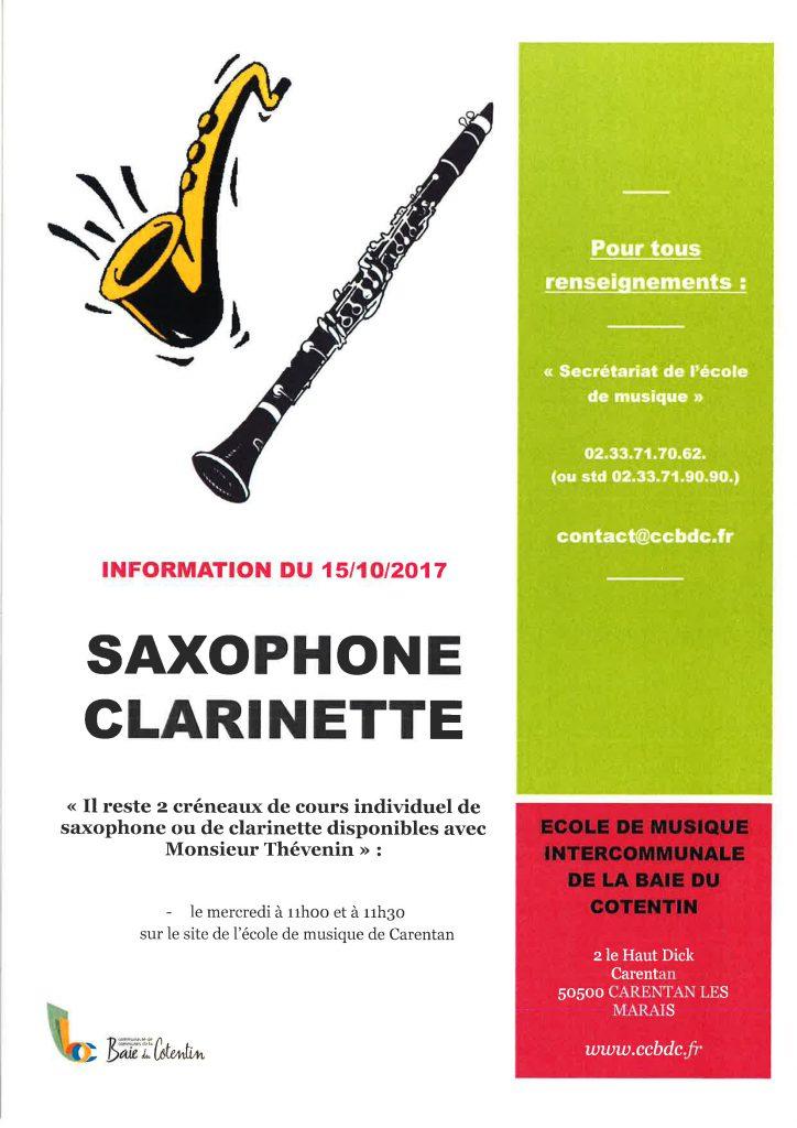Saxo Clarinette