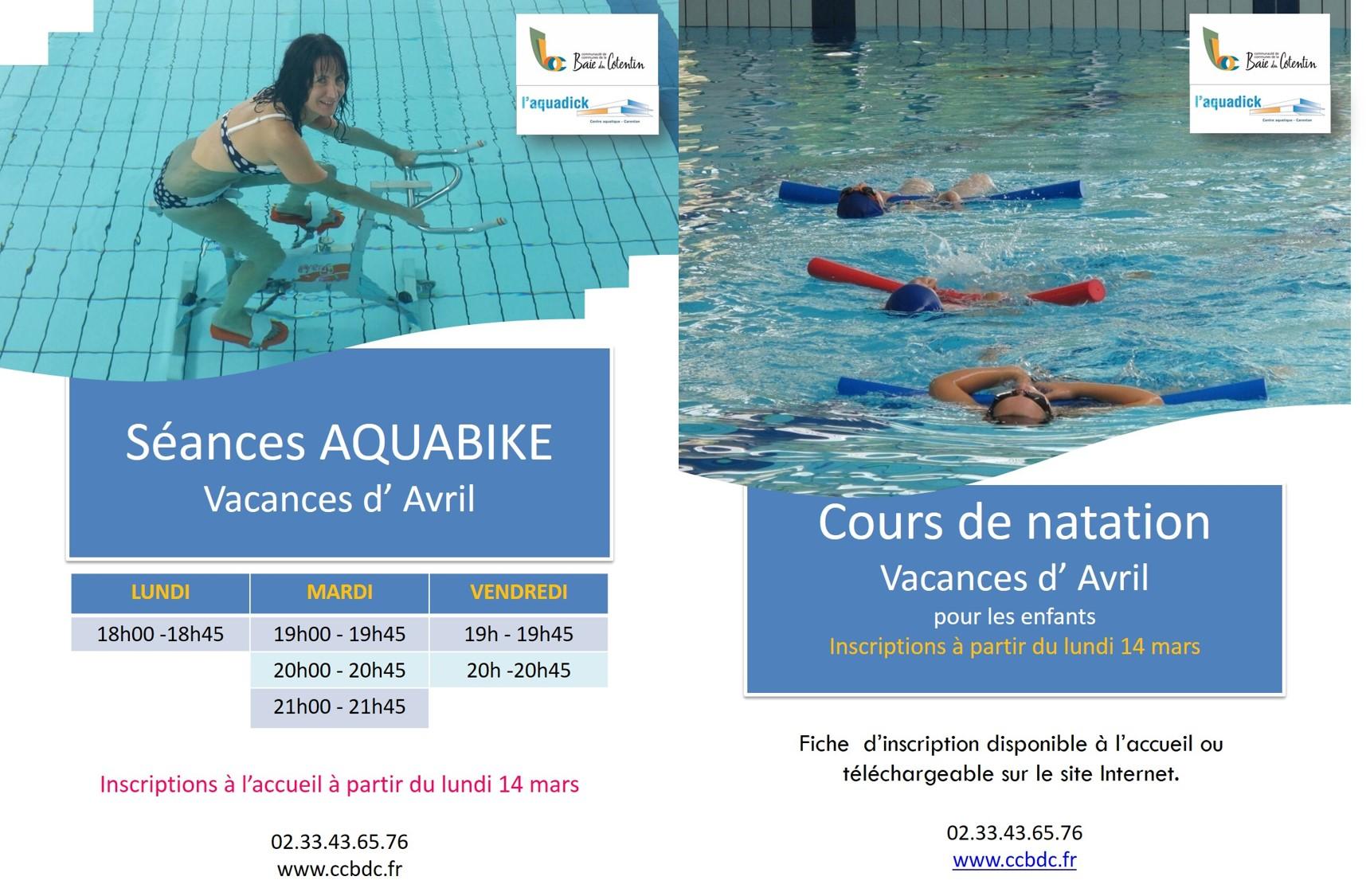Aquabike et cours enfants