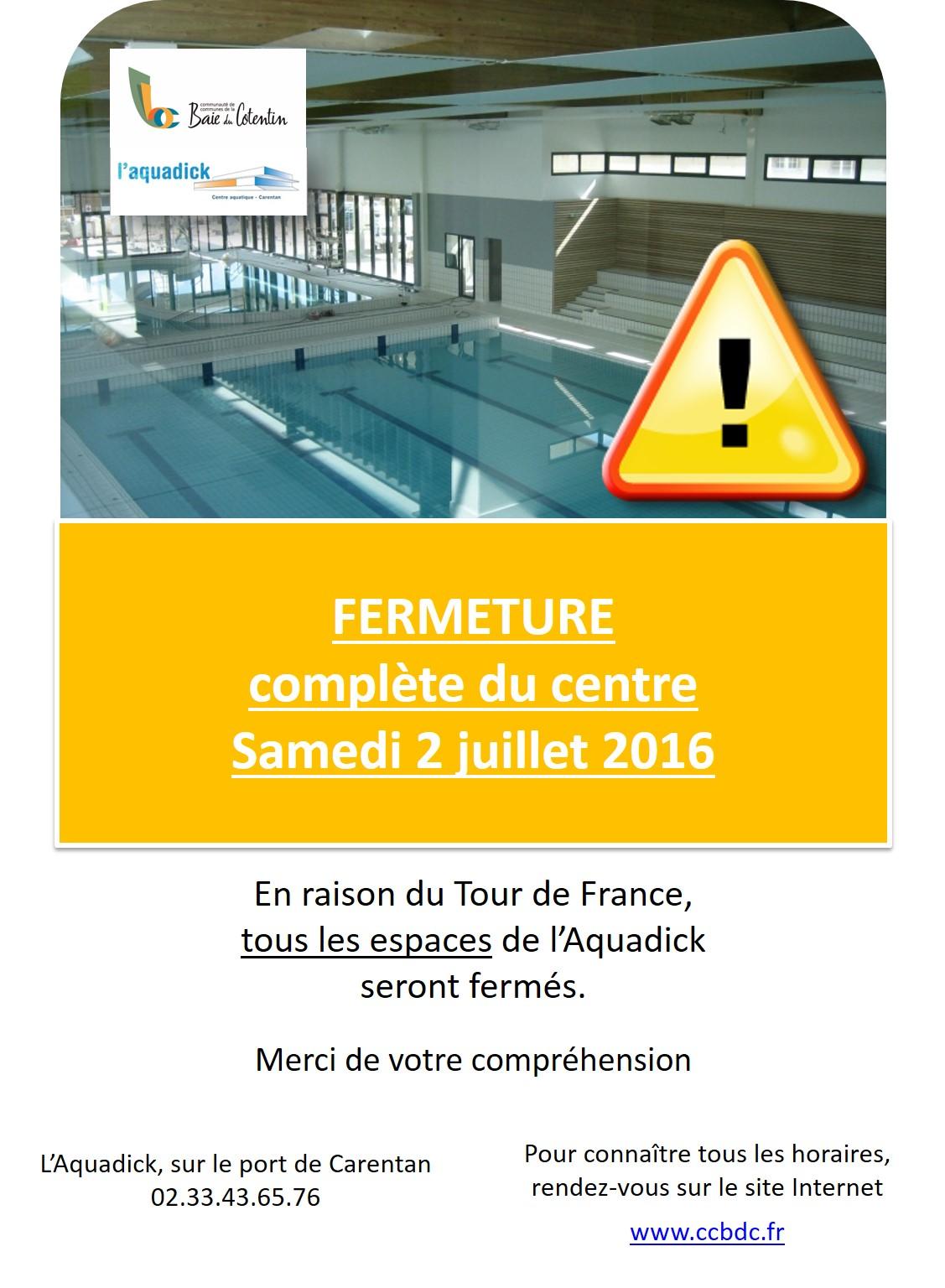 Fermeture Tour de France