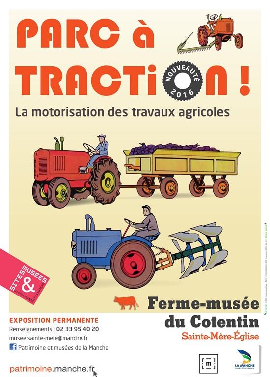 affiche Parc à traction - Ferme musee du Cotentin [1280x768]