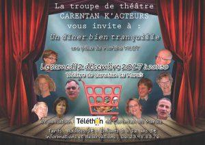 Un dîner bien tranquille - Téléthon Carentan les Marais