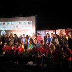 Equipes, organisateurs, coatch, membres du jury, tous sur le podium dimanche soir !