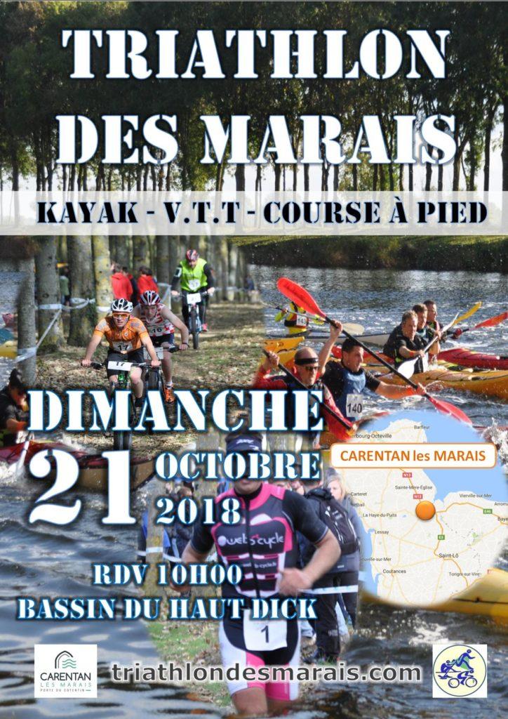 Affiche Triathlon des Marais 2018