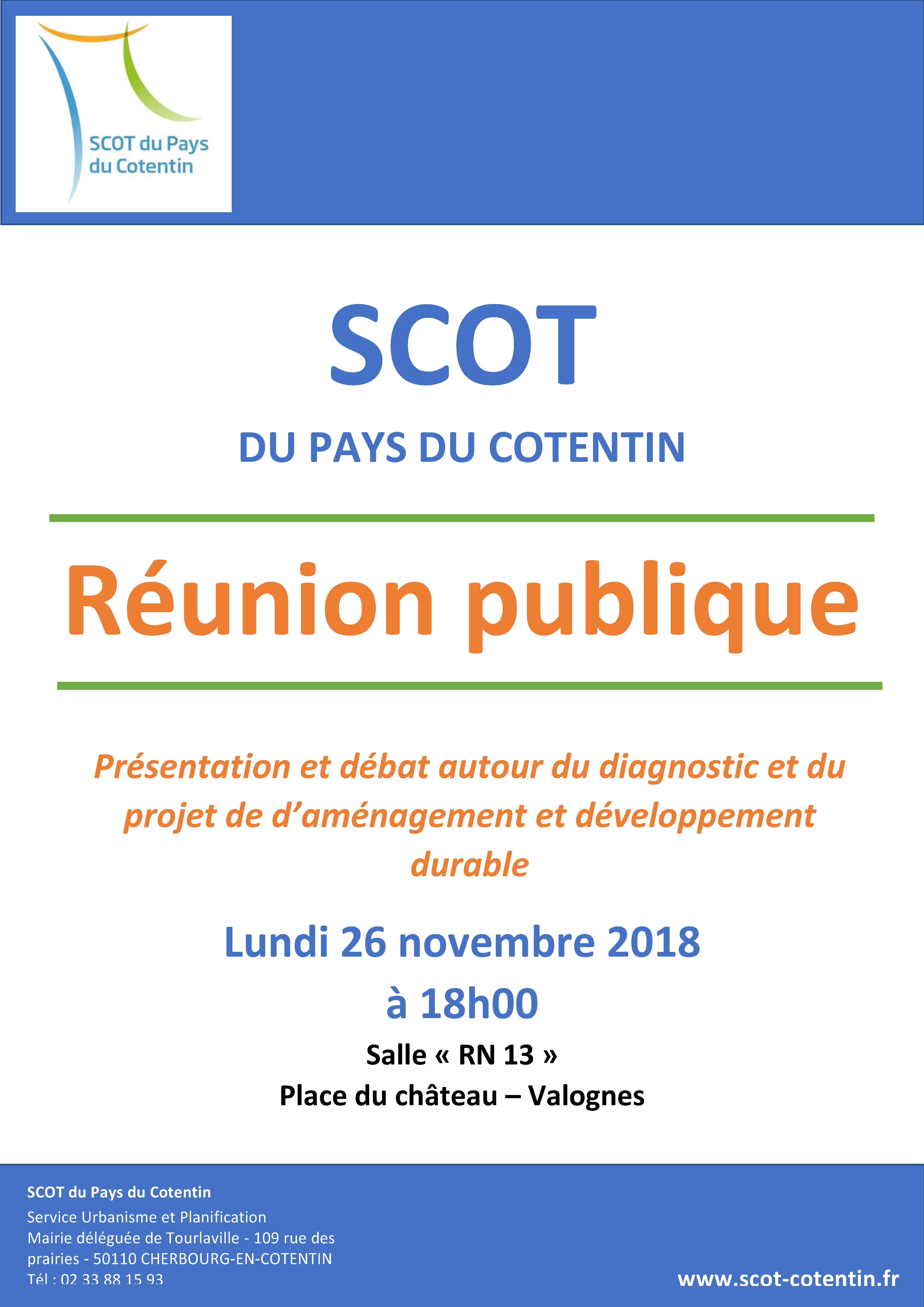 Affiche réunion publique scot