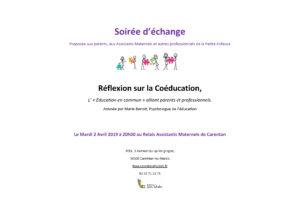 Soirée d'échange coéducation - Avril 2018