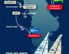 Tour des Ports de la Manche : départ de Port Carentan