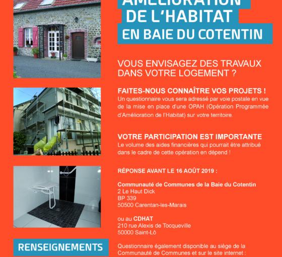 Amélioration de l'habitat en Baie du Cotentin