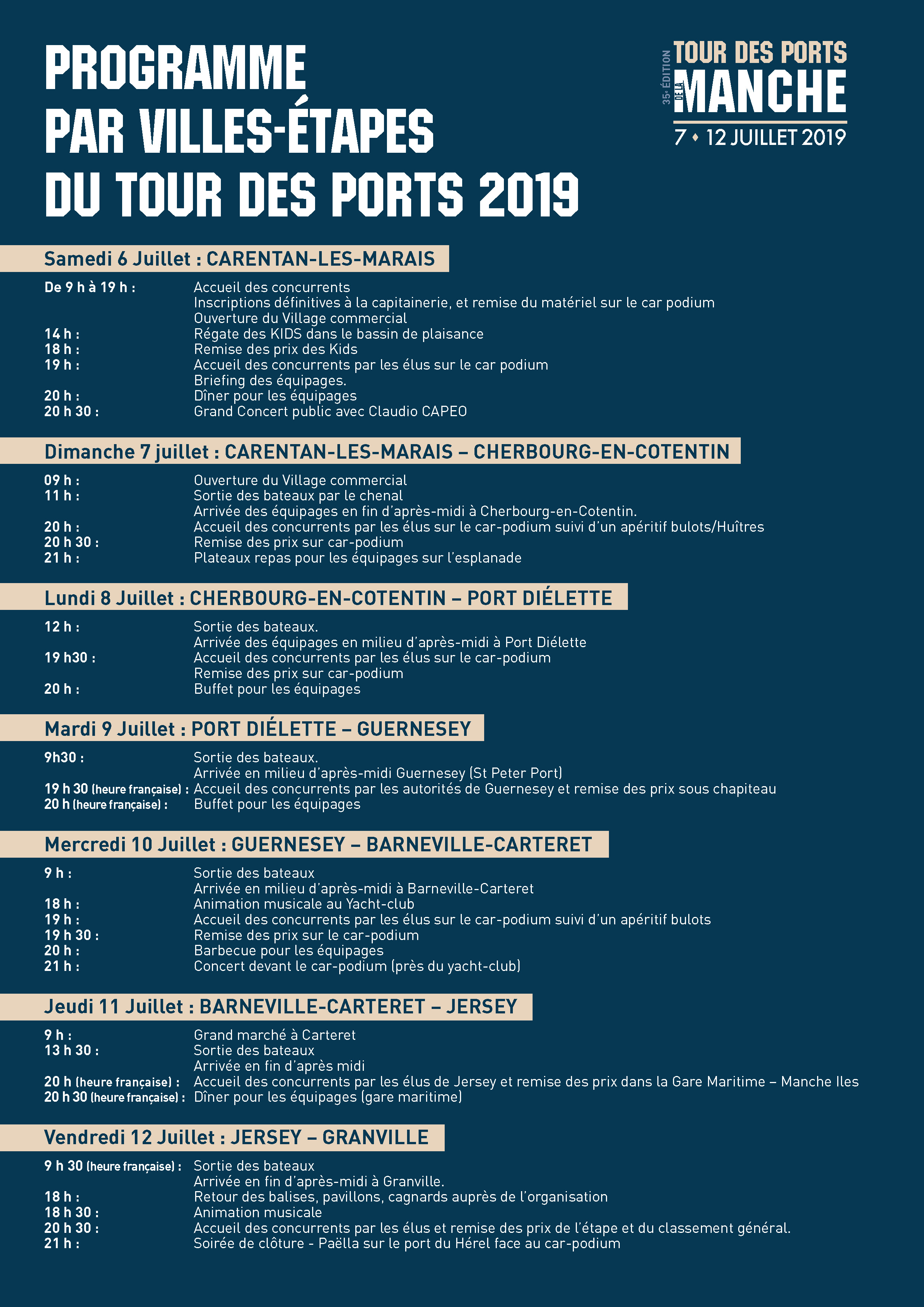 FICHES TDPM2019 PROGRAMME