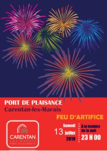 feu d'artifice 2019