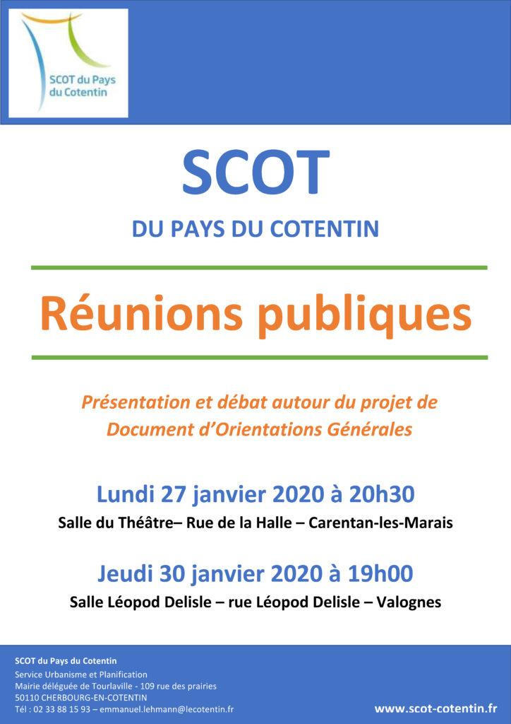 Affiche réunion publique DOO SCOT