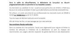 Déchetterie de Carquebut : réouverture progressive aux particuliers