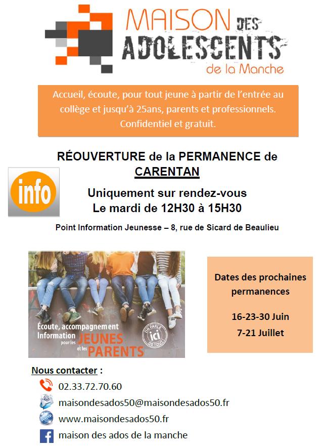 Affiche Mado Carentan-Juin et Juillet 2020