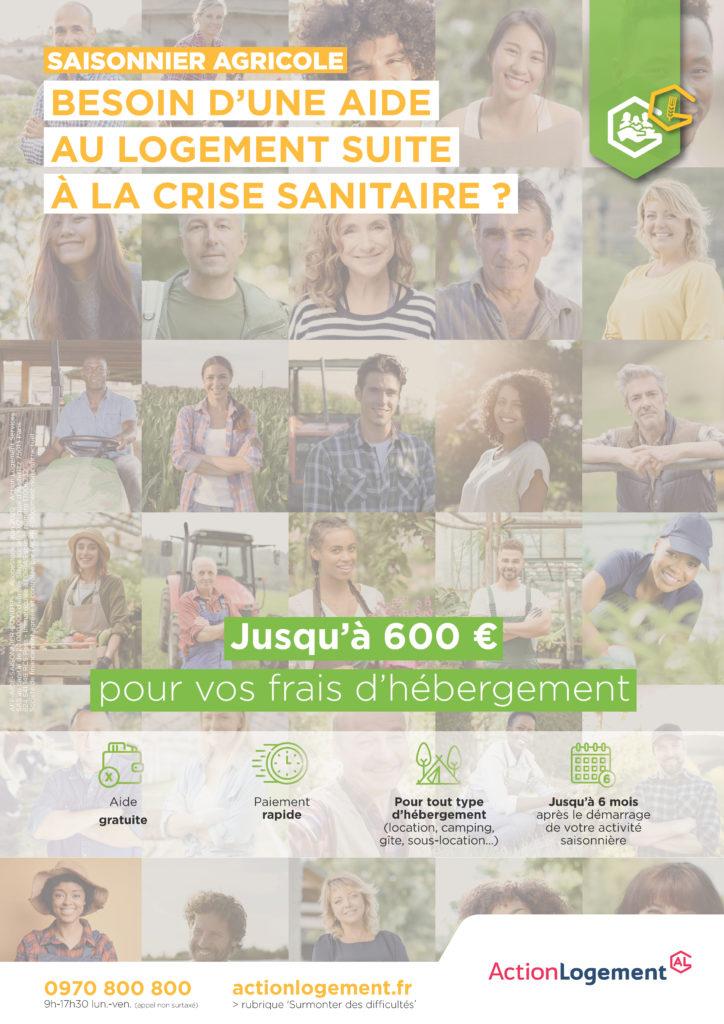 Affiche aide saisonniers agricoles fragilisés par la crise sanitaire_A3