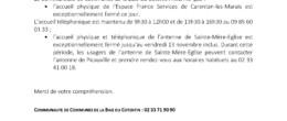 Les accueils France Services : fermetures exceptionnelles