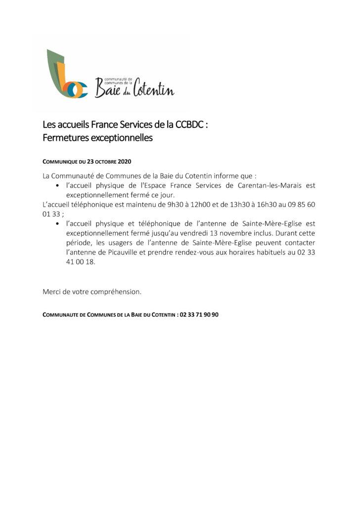 MSAP - Communiqué de presse - 23 OCTOBRE 2020