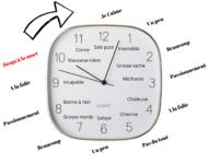 horloge ecriture