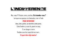 l'indifférence