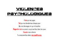 violences psychologiques