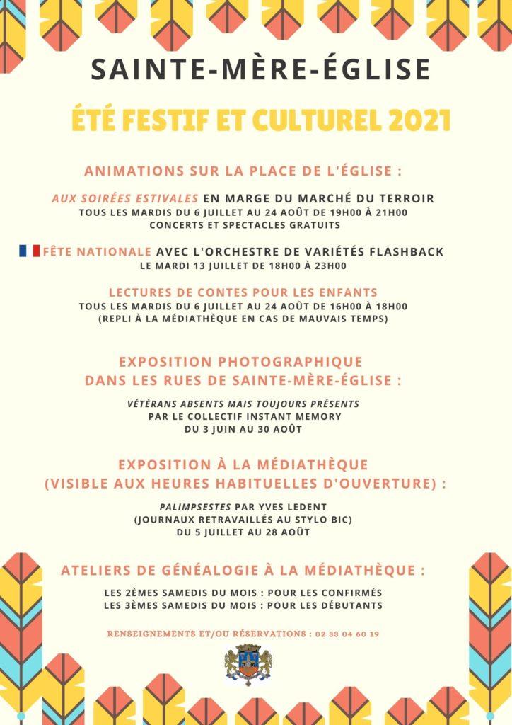 Flyer Été festif et culturel 2021