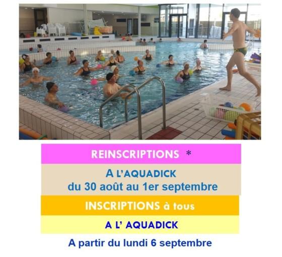 Aquadick : activités encadrées de la rentrée