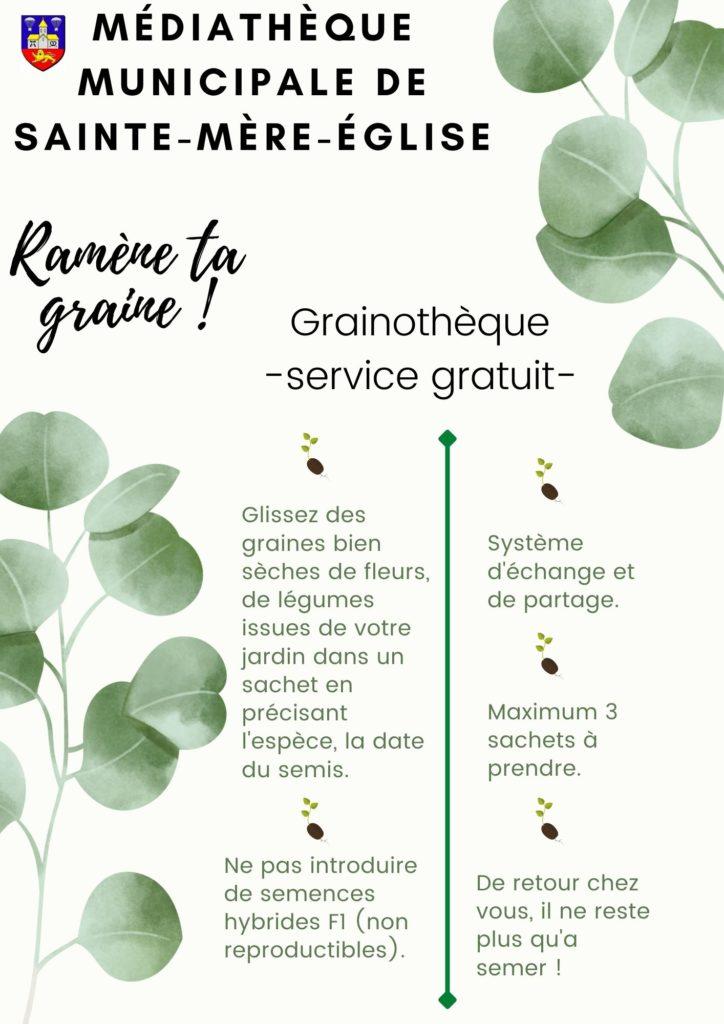 Affiche explicative grainothèque