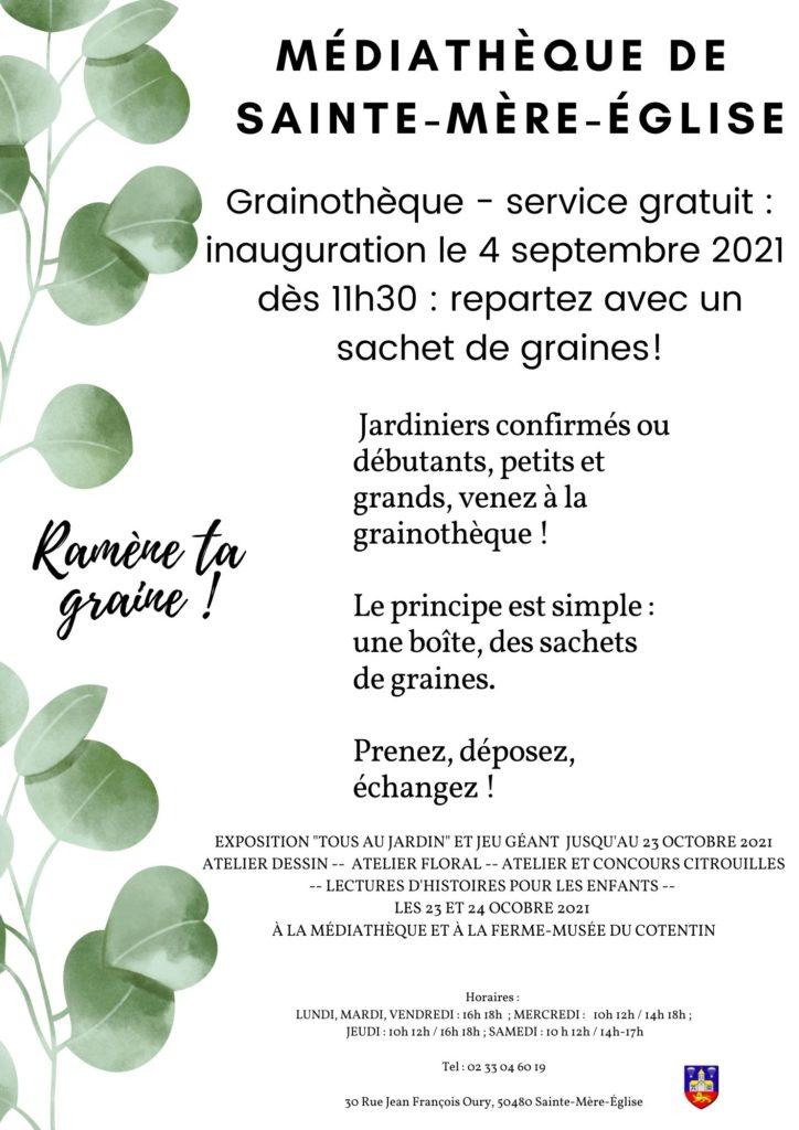 Affiche inauguration grainothèque